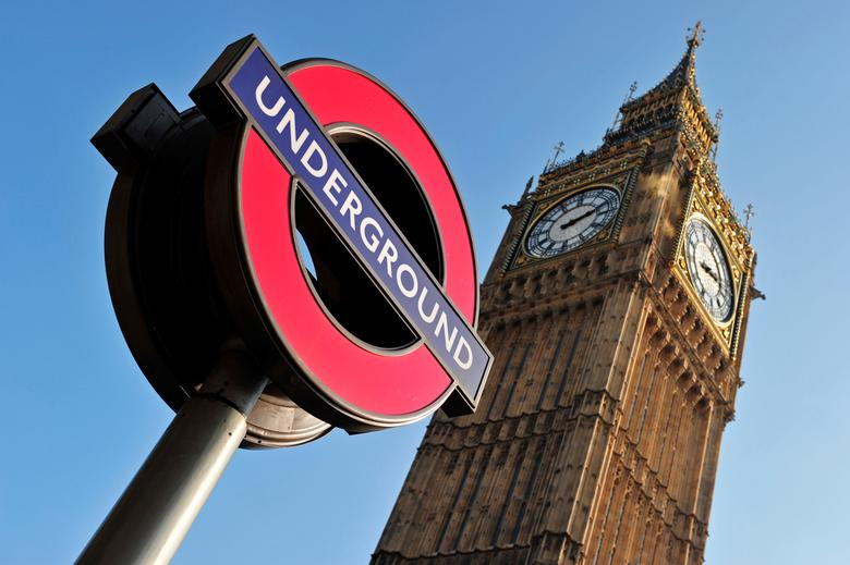 FILE PHOTO:  The Westminster Station London Underground sign is seen near The Houses of Parliament in London, Britain, March 8, 2011.    REUTERS/Toby Melville/File Photo
