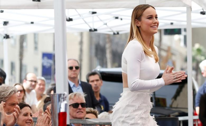 Actor Brie Larson attends the unveiling of the star for actor John Goodman on the Hollywood Walk of Fame in Los Angeles, California U.S., March 10, 2017. REUTERS/Mario Anzuoni