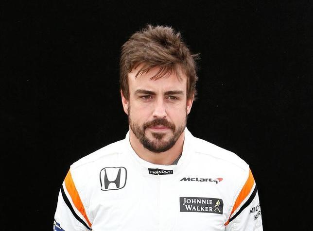 3月23日、自動車レースF1、マクラーレン・ホンダのフェルナンド・アロンソ(スペイン)は、昨季の開幕戦で大きなクラッシュを経験したオーストリア・グランプリ(GP)を控え、事故の記憶は問題ないと話した(2017年ロイター/Brandon Malone)