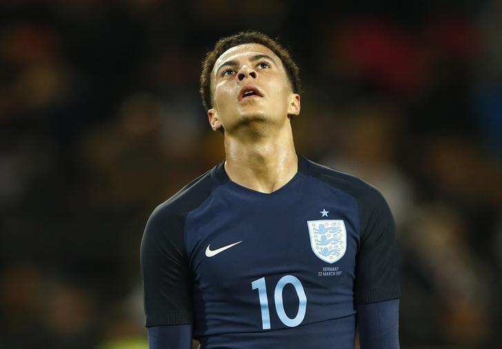 Football Soccer - Germany v England - International Friendly - Signal-Iduna-Park, Dortmund, Germany - 22/3/17 England's Dele Alli looks dejected after a missed chance  Reuters / Wolfgang Rattay Livepic/files