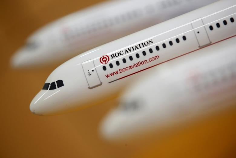 BoC Aviation model planes are seen at their office in Singapore in this May 16, 2016 photo illustration. REUTERS/Edgar Su/Illustration