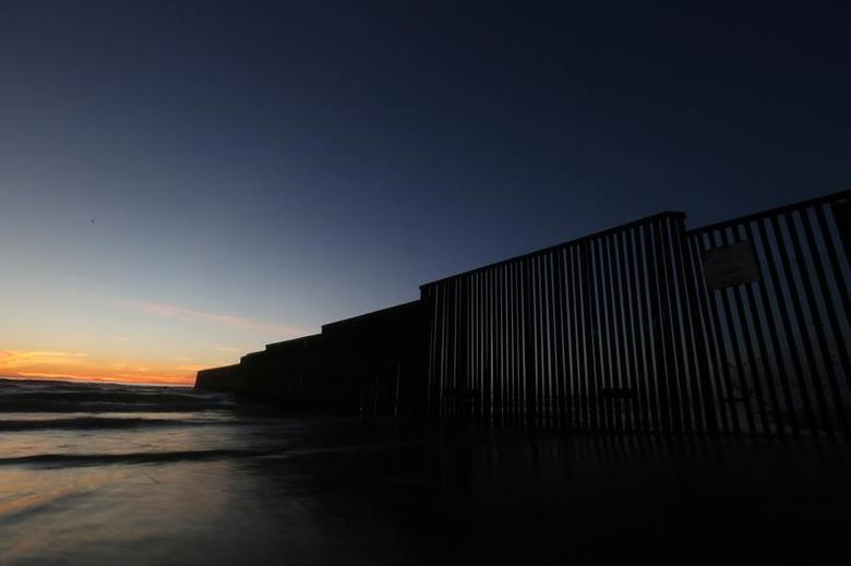 A view of a section of the wall separating Mexico and the United States, in Tijuana, Mexico, March 3, 2017. REUTERS/Edgard Garrido/Files