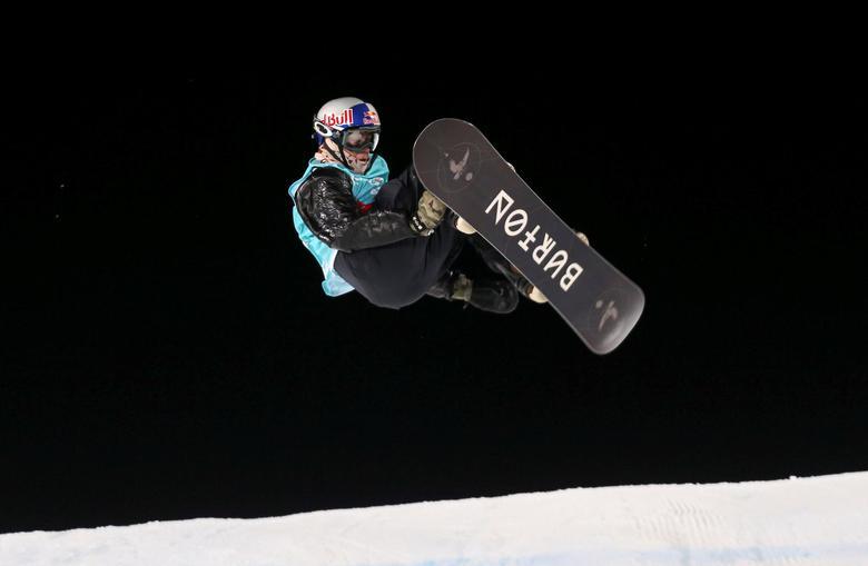 Snowboarding - X Games Men's Big Air Snowboard finals, Hafjell, Norway - 11/03/17 -  Gold medalist Mark McMorris from Canada.NTB Scanpix/Geir Olsen/via REUTERS