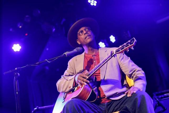 Eric Bibb from the U.S. performs at the Flux theater in Zaandam, Netherlands March 24, 2017. Picture taken March 24, 2017. REUTERS/Michael Kooren
