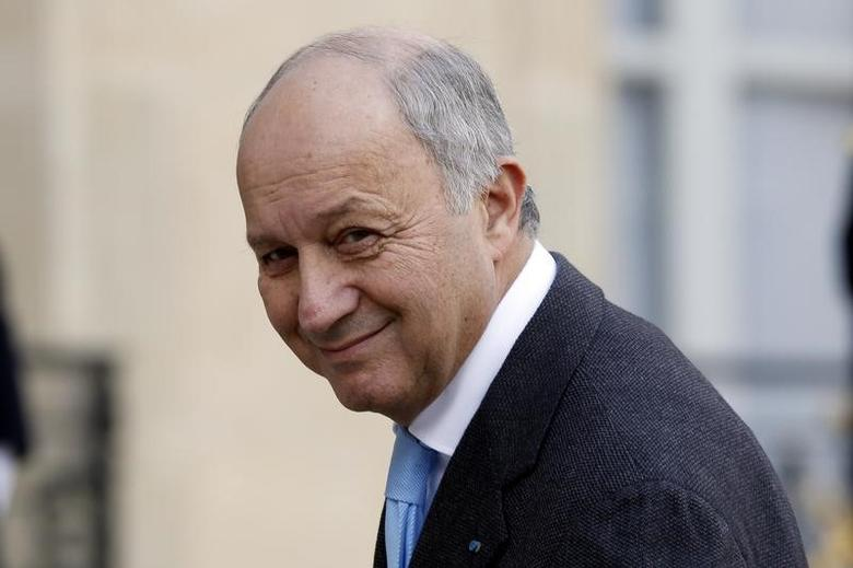 French Foreign Affairs Minister Laurent Fabius arrives at the Elysee Palace in Paris, France, February 8, 2016. REUTERS/Philippe Wojazer/File Photo
