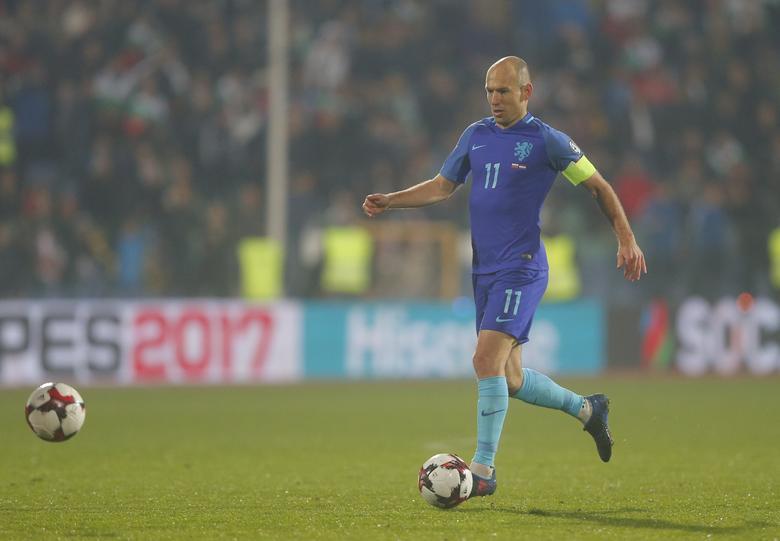Bulgaria v Netherlands - 2018 World Cup Qualifying European Zone - Group A - Vasil Levski Stadium, Sofia, Bulgaria - 25/03/17 - Netherland's Arjen Robben in action.      REUTERS/Laszlo Balogh