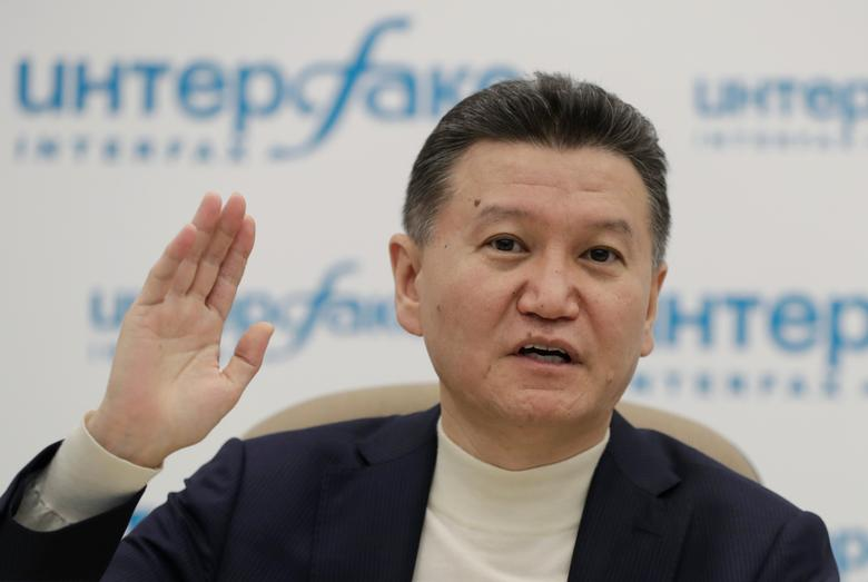 FIDE President Kirsan Ilyumzhinov gestures during a news briefing in Moscow, Russia March 29, 2017. REUTERS/Tatyana Makeyeva