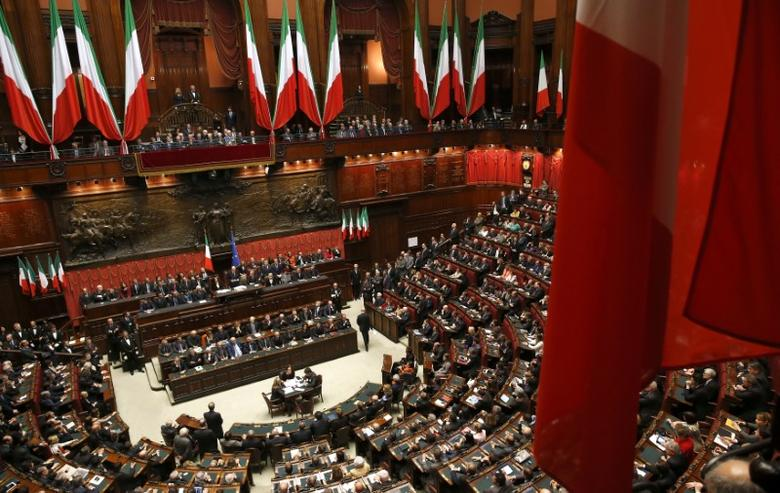 FILE PHOTO: A general view of the lower house of the parliament in Rome, Italy April 22, 2013. REUTERS/Tony Gentile/File Photo