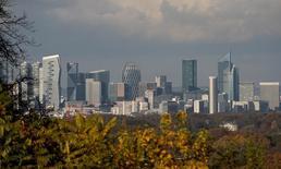 Paris Europlace organisera en mai une série de présentations aux Etats-Unis afin de tenter de convaincre les investisseurs américains de l'attractivité de la place financière de Paris face aux incertitudes générées par le Brexit. /Photo d'archives/REUTERS/Christian Hartmann