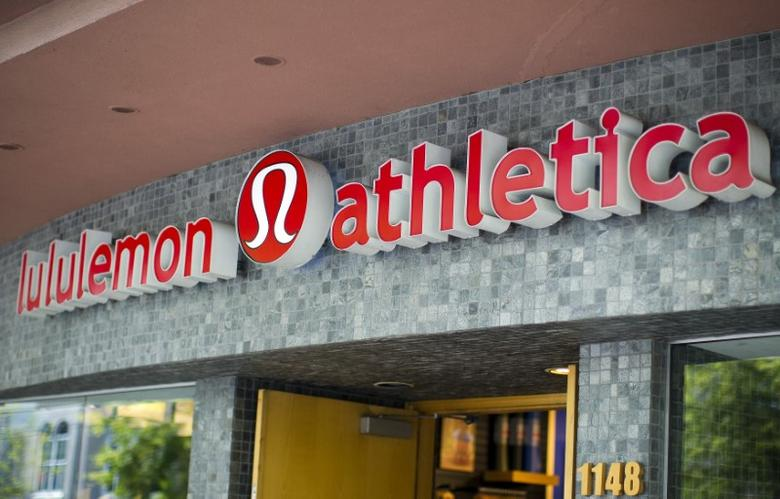 Yogawear retailer Lululemon Athletica Inc's logo is pictured at its store in downtown Vancouver June 11, 2014. REUTERS/Ben Nelms