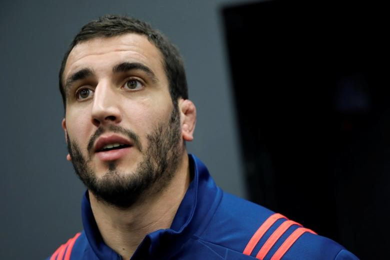 France Rugby Union - France's Training - Marcoussis, France - 31/01/17. France's rugby team player Yoann Maestri during a news conference. REUTERS/Benoit Tessier