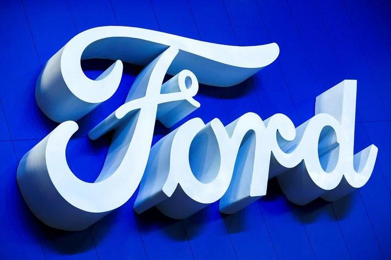 The logo of Ford is pictured at the 38th Bangkok International Motor Show in Bangkok, Thailand March 28, 2017. REUTERS/Athit Perawongmetha/Files