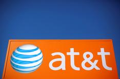 An AT&T sign is seen outside a branch in Rolling Meadows, Illinois, U.S., October 24, 2016.    REUTERS/Jim Young