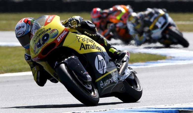 Paginas Amarillas HP Moto2 rider Alex Rins of Spain rides on his way to winning the Australian Grand Prix on Phillip Island, October 18, 2015. REUTERS/Brandon Malone  Picture Supplied by Action Images
