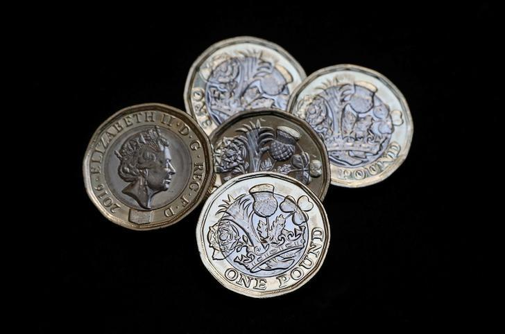 New one pound coins, which come into circulation today, are seen in London, Britain March 28, 2017 REUTERS/Neil Hall