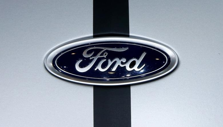 The logo of Ford is seen during the 87th International Motor Show at Palexpo in Geneva, Switzerland March 8, 2017. REUTERS/Arnd Wiegmann