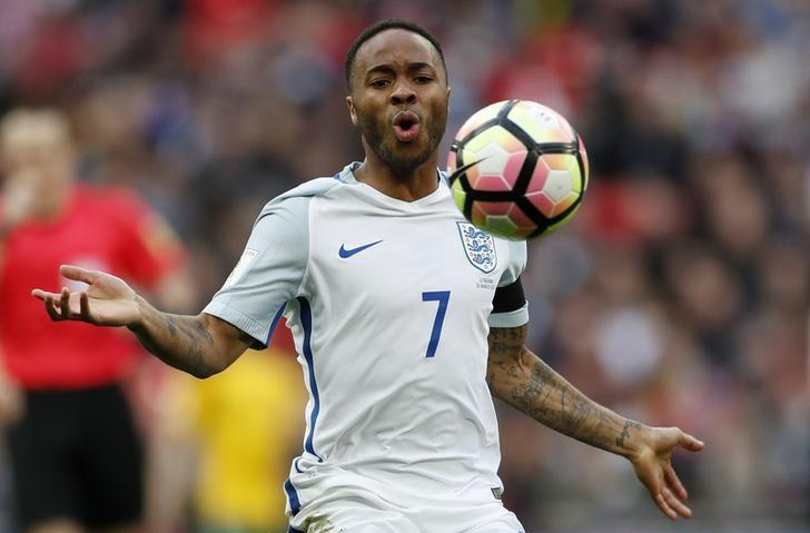 Britain Football Soccer - England v Lithuania - 2018 World Cup Qualifying European Zone - Group F - Wembley Stadium, London, England - 26/3/17 England's Raheem Sterling Action Images via Reuters / John Sibley Livepic