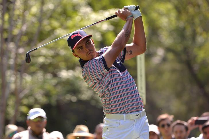 Mar 3, 2017; Mexico City, MEX; Rickie Fowler plays his shot from the seventh tee during the second round of the WGC - Mexico Championship golf tournament  at Club de Golf Chapultepec. Mandatory Credit: Orlando Ramirez-USA TODAY Sports
