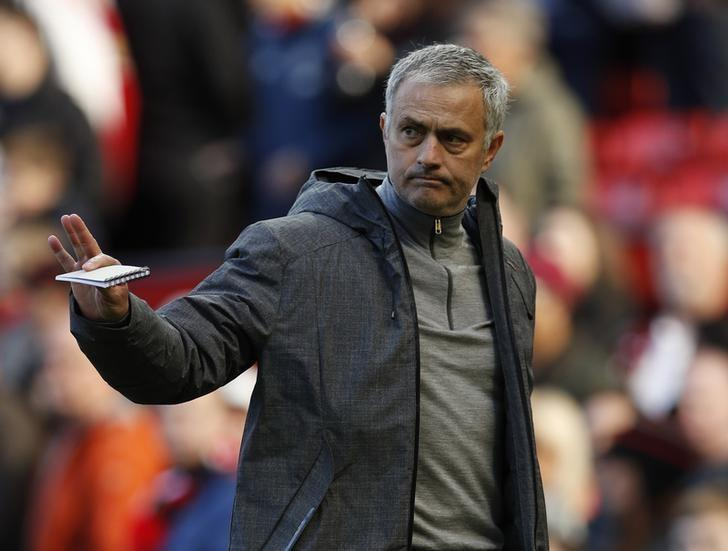 Britain Soccer Football - Manchester United v West Bromwich Albion - Premier League - Old Trafford - 1/4/17 Manchester United manager Jose Mourinho  Action Images via Reuters / Lee Smith Livepic