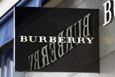 The logo of Burberry outlet store is seen in Paris, France, March 10, 2016.   REUTERS/Charles Platiau
