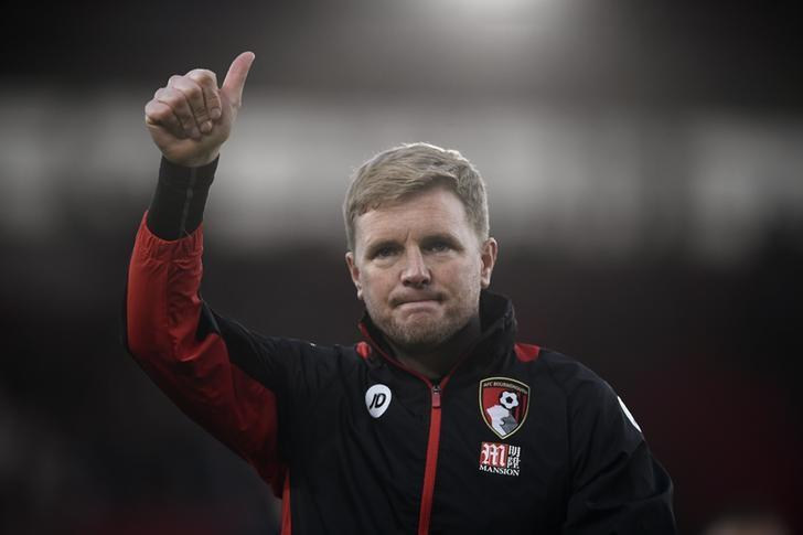 Britain Soccer Football - Southampton v AFC Bournemouth - Premier League - St Mary's Stadium - 1/4/17 Bournemouth manager Eddie Howe gestures to fans after the match  Reuters / Dylan Martinez Livepic