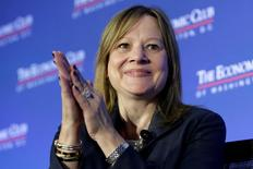 FILE PHOTO --  Mary Barra, chairwoman and CEO of General Motors, discusses the future of the auto industry and the state of the U.S. economy in Washington, DC, U.S. February 28, 2017. REUTERS/Yuri Gripas/File Photo