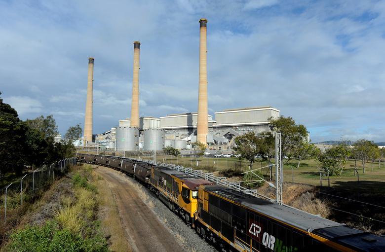 FILE PHOTO: A coal train leaves the Gladstone Power Station in Gladstone, Queensland, Australia, July 17, 2013.  AAP/Dan Peled/via REUTERS