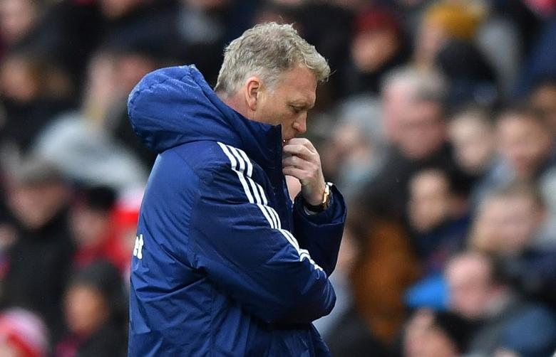 Britain Football Soccer - Sunderland v Burnley - Premier League - Stadium of Light - 18/3/17 Sunderland manager David Moyes looks dejected  Reuters / Anthony Devlin Livepic