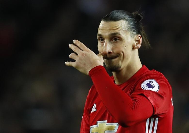 Manchester United's Zlatan Ibrahimovic  Action Images via Reuters / Jason Cairnduff
