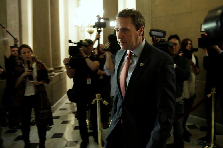 U.S. Representative Mark Walker (R-NC) walks into a Speaker's office on Capitol Hill in Washington, U.S., March 23, 2017. REUTERS/Yuri Gripas