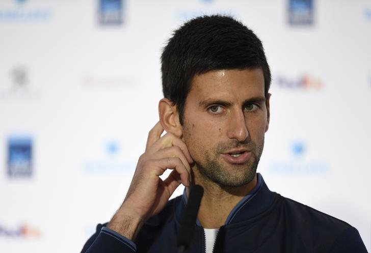 Britain Tennis - Barclays ATP World Tour Finals Preview - O2 Arena, London - 11/11/16 Serbia's Novak Djokovic during a press conference Action Images via Reuters / Tony O'Brien Livepic/Files