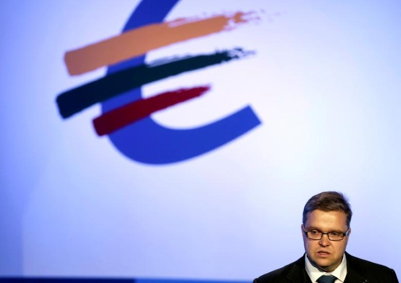Lithuania's central bank governor Vitas Vasiliauskas speaks during the Euro Conference in Vilnius September 25, 2014.  REUTERS/Ints Kalnins/File Photo