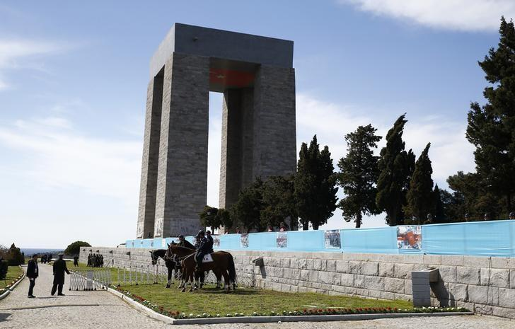 The Turkish Memorial is seen during a ceremony marking the 102nd anniversary of Battle of Canakkale, also known as the Gallipoli Campaign, in Canakkale, Turkey, March 18, 2017. REUTERS/Osman Orsal /Files