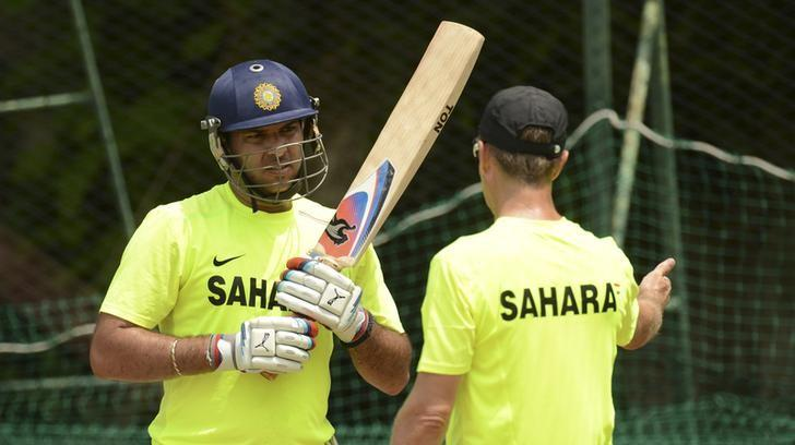 REPRESENTATIVE IMAGE -- Yuvraj Singh (L) speaks to fielding coach Trevor Penney during a training session at Nondescripts cricket club in Colombo September 18, 2012, ahead of India's Group A World Twenty20 match against Afghanistan on Wednesday.  REUTERS/Philip Brown/File Photo