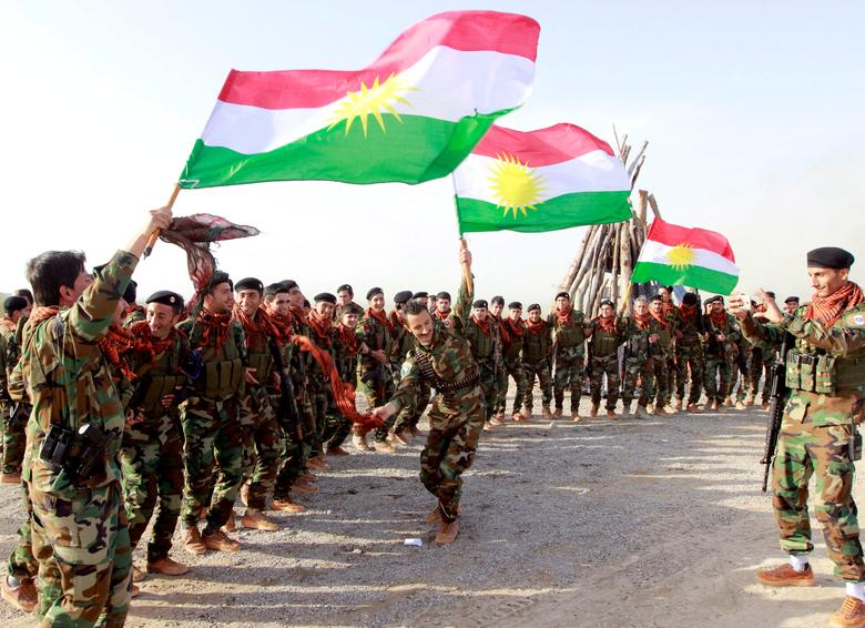 Kurdish Peshmerga forces celebrate Newroz Day, a festival marking spring and the new year, in Kirkuk March 20, 2017. REUTERS/Ako Rasheed