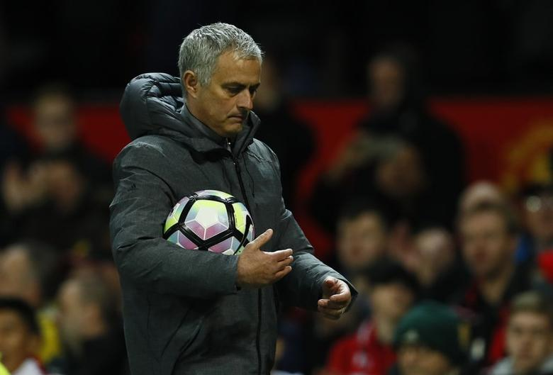 Britain Football Soccer - Manchester United v Everton - Premier League - Old Trafford - 4/4/17 Manchester United manager Jose Mourinho walks off dejected after the game Action Images via Reuters / Jason Cairnduff Livepic