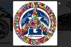 The logo for the parody immigration Twitter account @alt_uscis, the subject of administrative summons from the U.S. government to social media company Twitter, is seen in a screenshot taken April 6, 2017.   @alt_uscis/Handout via Reuters