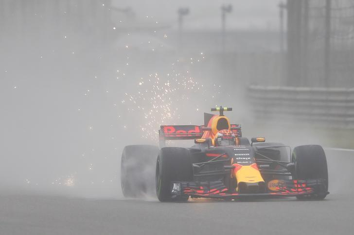 Formula One - F1 - Chinese Grand Prix - Shanghai, China - 7/4/17 - Red Bull Racing Formula One driver Max Verstappen of the Netherlands drives during the first practice session at the Shanghai International Circuit. REUTERS/Aly Song