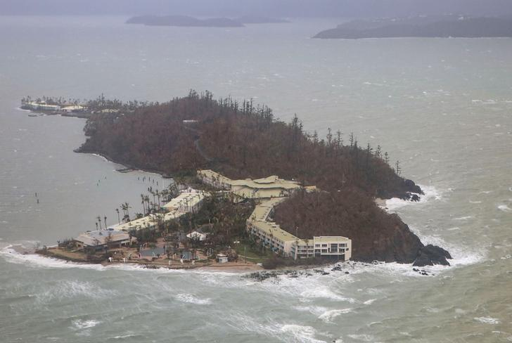 A supplied image shows the damage on Daydream Island after Cyclone Debbie passed through the region known as the Whitsundays in Queensland, Australia, March 29, 2017. Australian Defence Force/Handout via REUTERS
