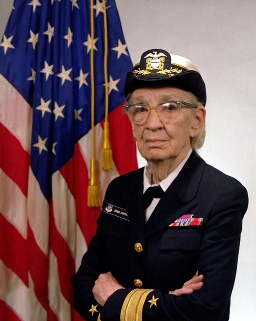 Commodore Grace M. Hopper, U.S. Navy is shown in this January 20, 1984 handout photo.  Courtesy U.S. Navy/Handout via REUTERS