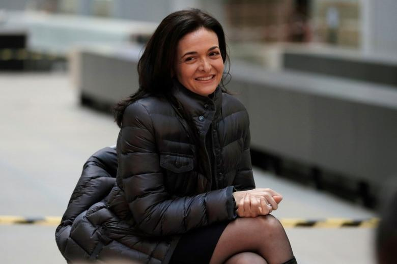 Sheryl Sandberg, Chief Operating Officer of Facebook, listens to speeches during a visit in Paris, France, January 17, 2017, at a start-up companies gathering at Paris' Station F site as the company tries to head off tougher regulation by Germany. REUTERS/Philippe Wojazer