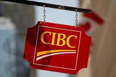FILE PHOTO --  A Canadian Imperial Bank of Commerce (CIBC) sign is seen outside of a branch in Ottawa, Ontario, Canada, May 26, 2016. REUTERS/Chris Wattie/File Photo