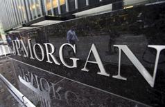 JPMorgan Chase & Co, la première banque des Etats-Unis par les actifs, a publié jeudi un bénéfice en hausse de 16,8% au premier trimestre, grâce à une hausse de son activité prêts et au bond du volume de ses transactions sur les marchés financiers. /Photo d'archives/REUTERS/Mike Segar