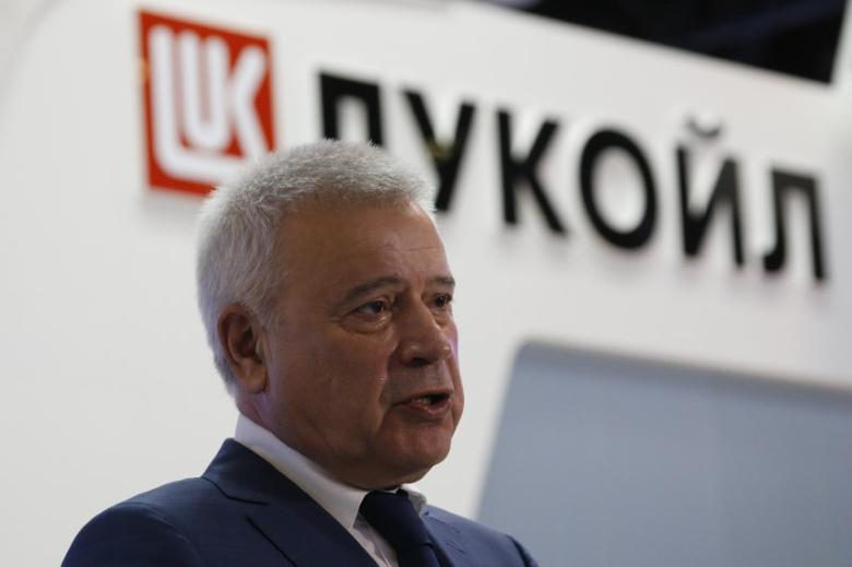 CEO of Lukoil company Vagit Alekperov talks to journalists at the St. Petersburg International Economic Forum 2016 (SPIEF 2016) in St. Petersburg, Russia, June 17, 2016. REUTERS/Sergei Karpukhin