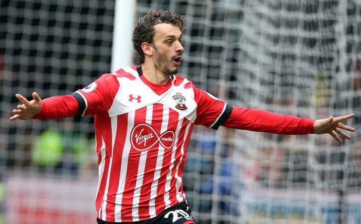 Britain Soccer Football - Watford v Southampton - Premier League - Vicarage Road - 4/3/17 Southampton's Manolo Gabbiadini celebrates scoring their third goal Reuters / Paul Hackett Livepic