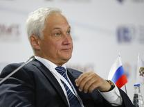 """Russian presidential aide Andrei Belousov attends the Gaidar Forum 2015 """"Russia and the World: New Dimensions"""" in Moscow, January 15, 2015. REUTERS/Maxim Shemetov (RUSSIA  - Tags: BUSINESS HEADSHOT POLITICS)"""
