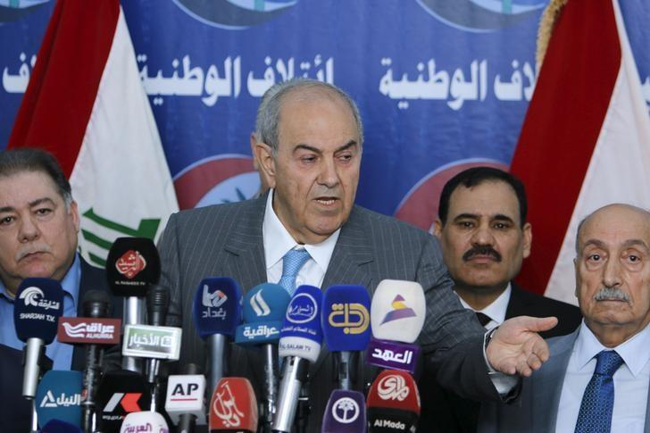 Iraq's former Prime Minister Ayad Allawi speaks to reporters during a news conference in Baghdad March 20, 2016. REUTERS/Khalid Al Mousily/Files