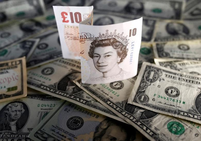 U.S. dollar and British pound notes are seen in this November 7, 2016 picture illustration. Picture taken November 7. REUTERS/Dado Ruvic/Illustration