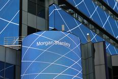 The corporate logo of financial firm Morgan Stanley is pictured on the company's world headquarters in New York, U.S. April 17, 2017. REUTERS/Shannon Stapleton