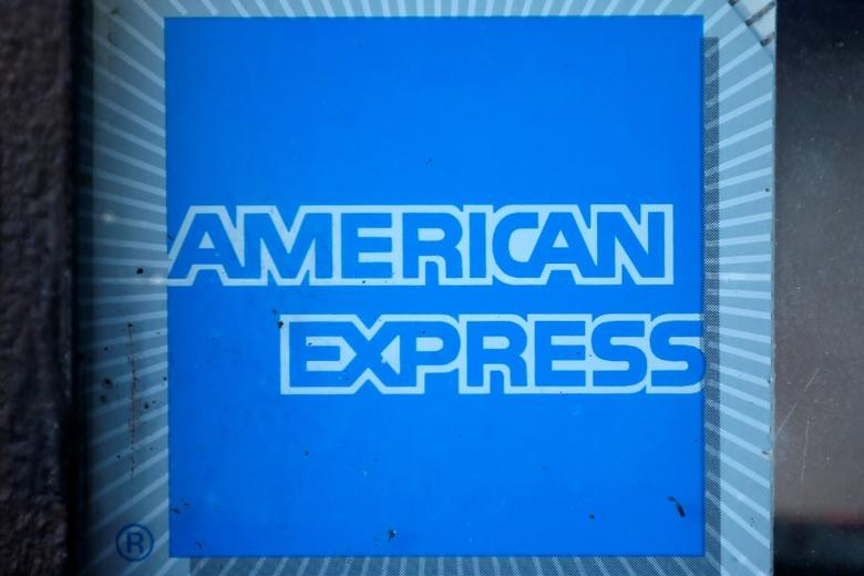 The logo of Dow Jones Industrial Average stock market index listed company American Express (AXP) is seen in Los Angeles, California, United States, April 25, 2016. REUTERS/Lucy Nicholson
